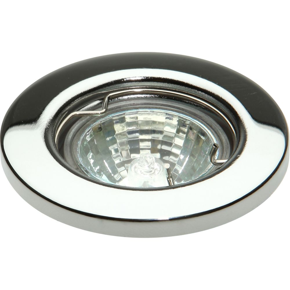 timeless design df677 cdf17 12 Volt MR11 Polished Chrome Fixed Downlight Fitting