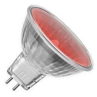 12 volt 20 watt Red MR8 25mm Halogen Light Bulb
