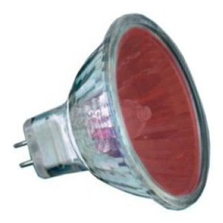 Red Coloured 12 volt 20 watt Halogen Dichroic Light Bulb