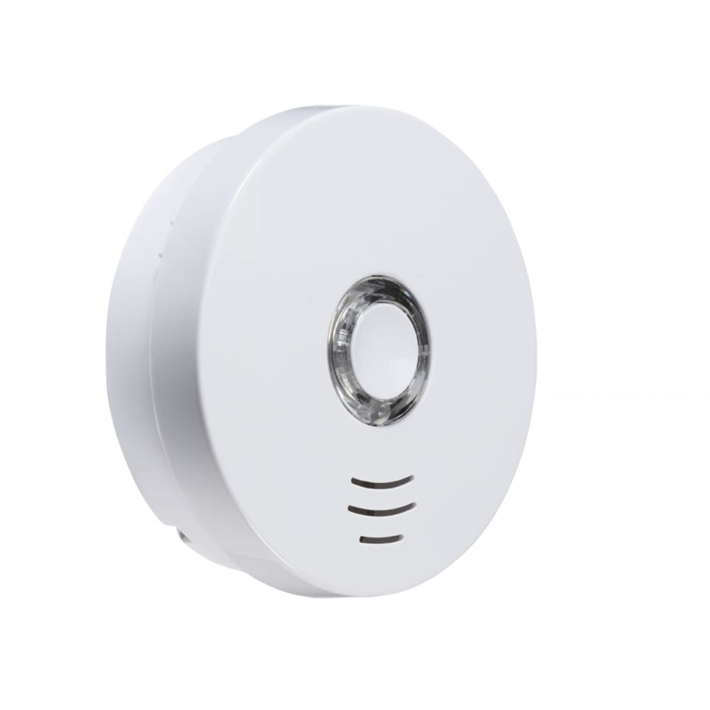 White Optical Smoke Alarm With 10 Year Battery
