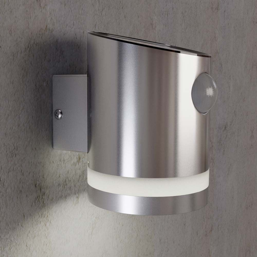 Stainless steel outdoor solar powered truro solar motion wall light aloadofball Image collections
