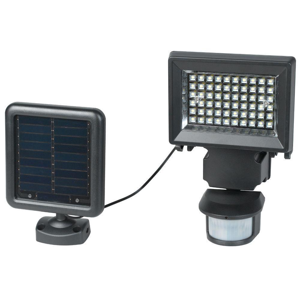 Duracell Solar Powered Black Outdoor Led Spot Light 6: Duracell Solar SL002BDU Black LED Floodlight With PIR Sensor