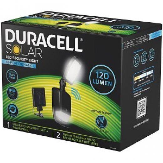 Duracell Solar Powered Black Outdoor Led Spot Light 6: Duracell SL001BKBDU Black Solar Security Light With Sensor
