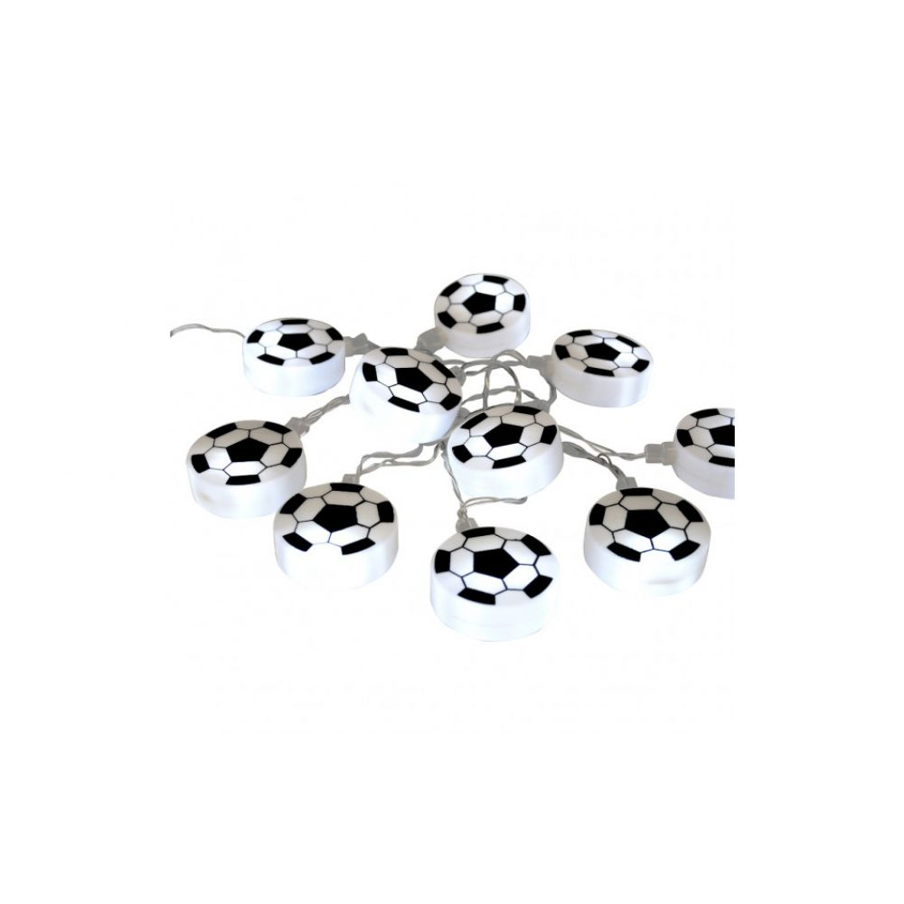 Set of 10 Battery Operated Football Disc LED Chain Lights