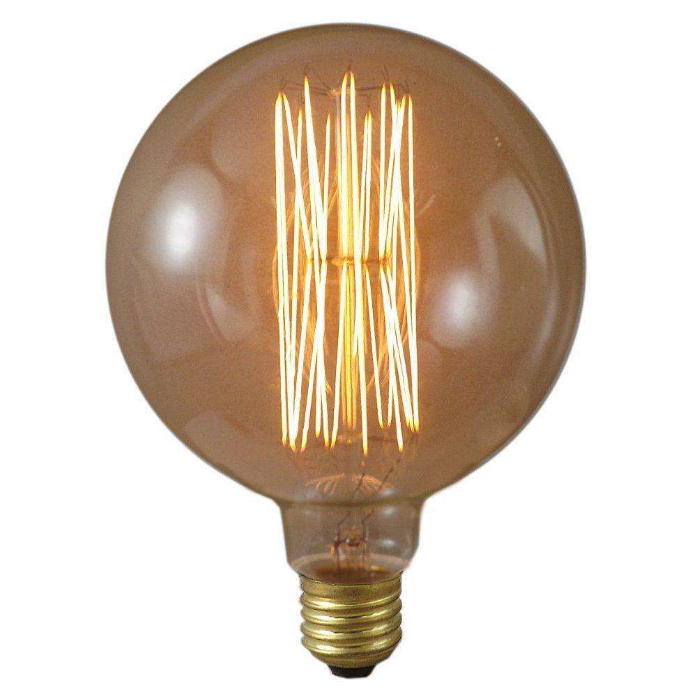 40 Watt Es E27 125mm Gold Tinted 125mm Antique Globe Lamp