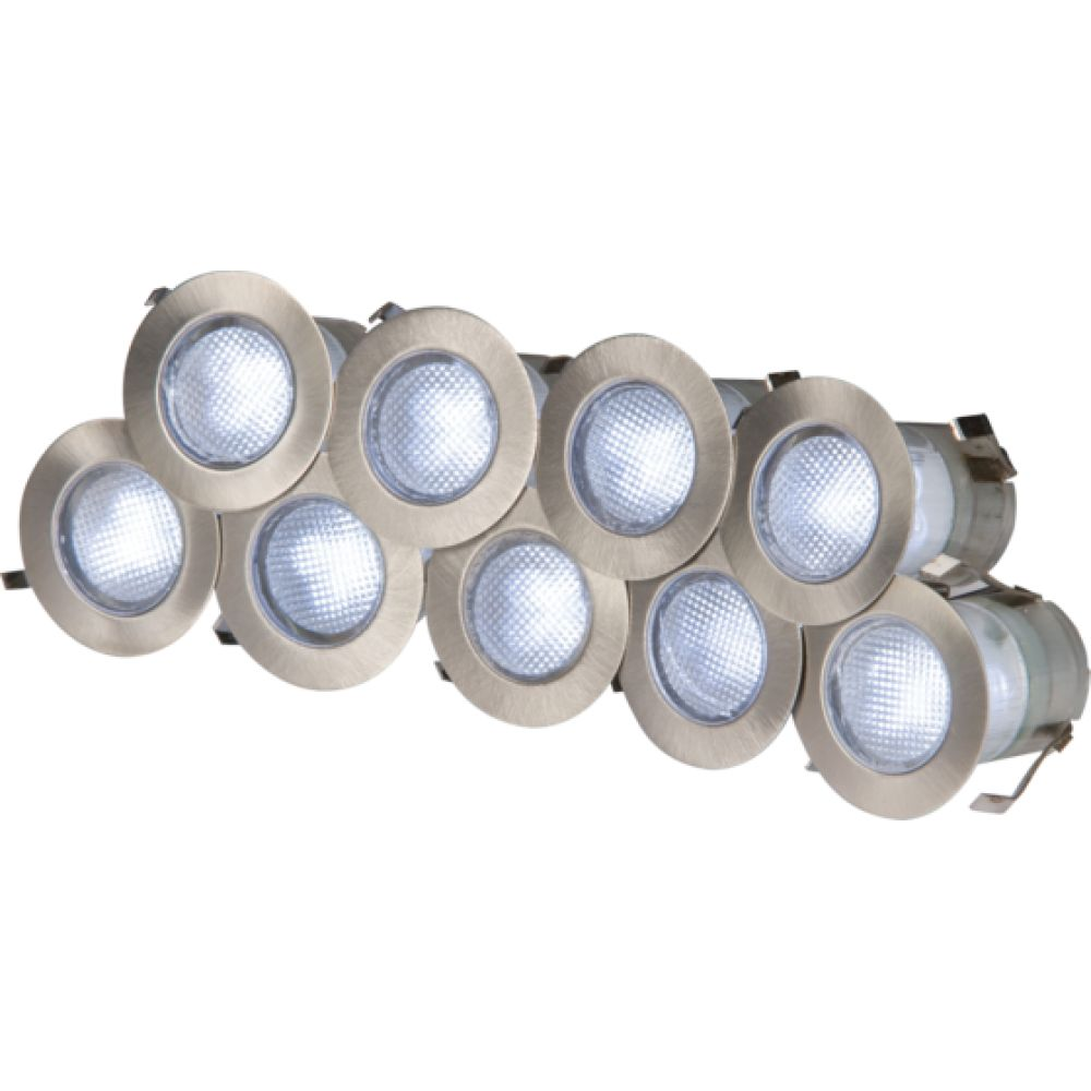 Knightsbridge kit16w 10x 02 watt white led decking lights mozeypictures Image collections
