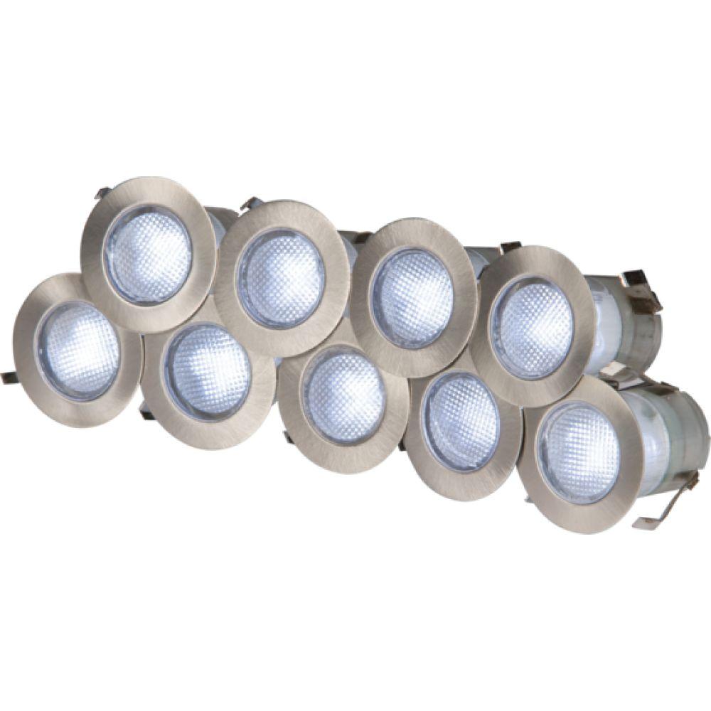 Knightsbridge kit16w 10x 02 watt white led decking lights mozeypictures Gallery