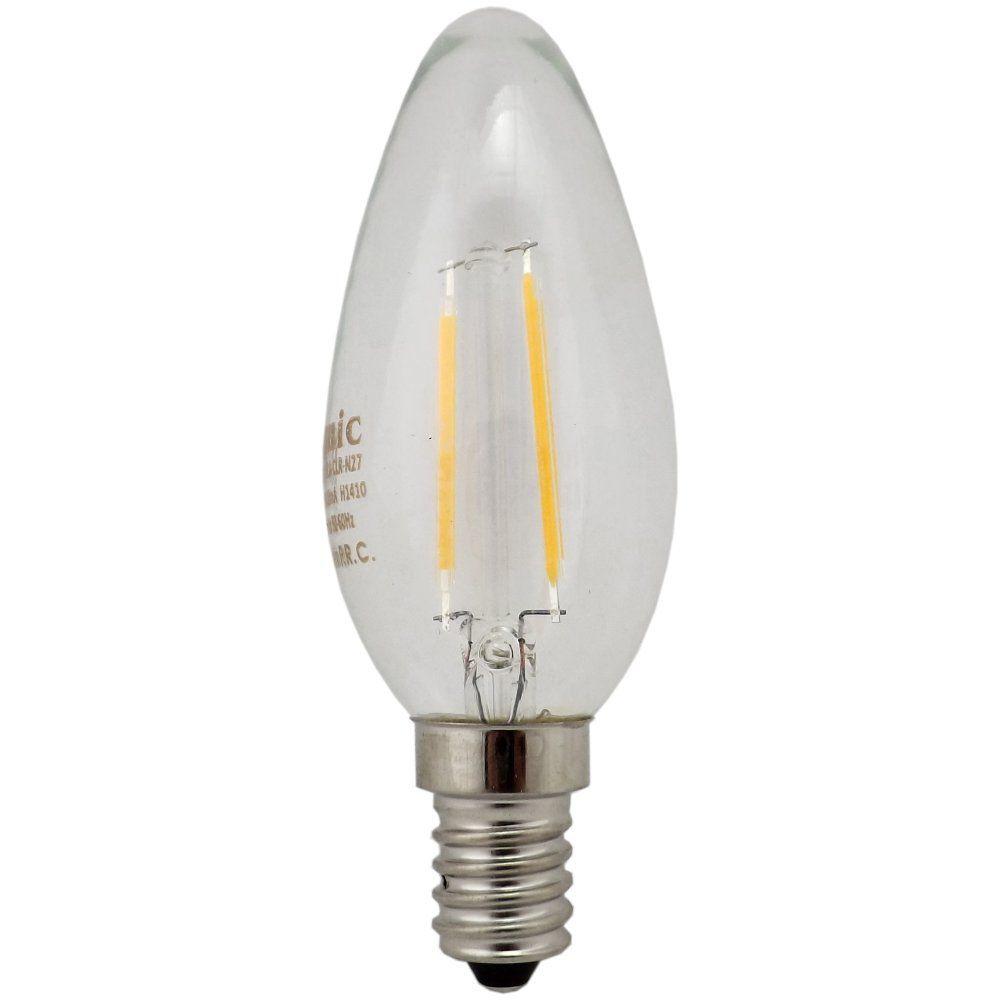 Kosnic 2 watt SES-E14mm Antique Filament LED Candle Bulb