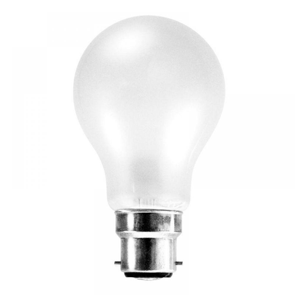 60 Watt 110 Volt Bc B22mm Opal Low Voltage Gls Lamp
