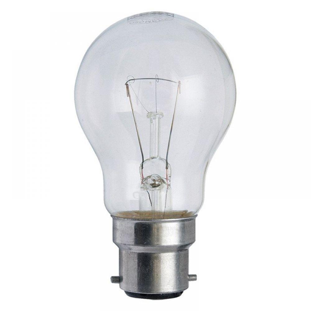 60 Watt 110 Volt Bc B22mm Clear Low Voltage Gls Lamp