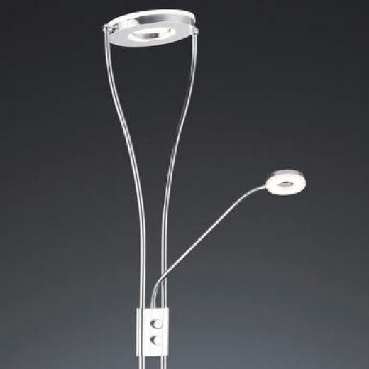 Minisun black flexi neck daylight led floor lamp mozeypictures Images