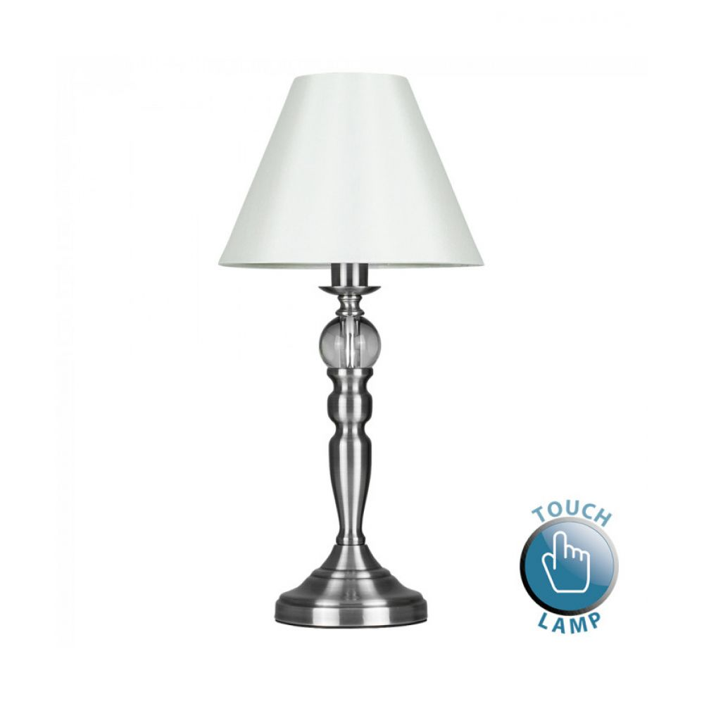 Sofia satin nickel touch table lamp mozeypictures Image collections