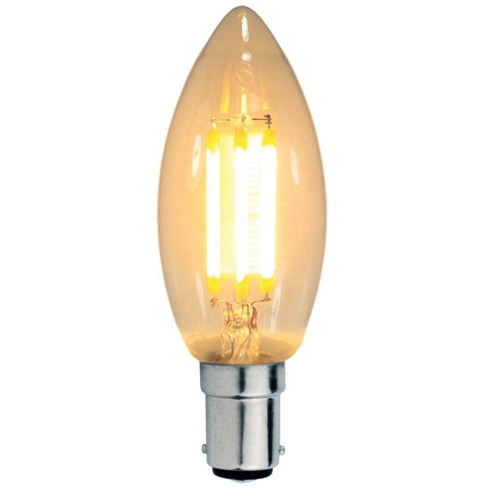 3 watt sbc b15mm decorative antique filament led candle bulb. Black Bedroom Furniture Sets. Home Design Ideas