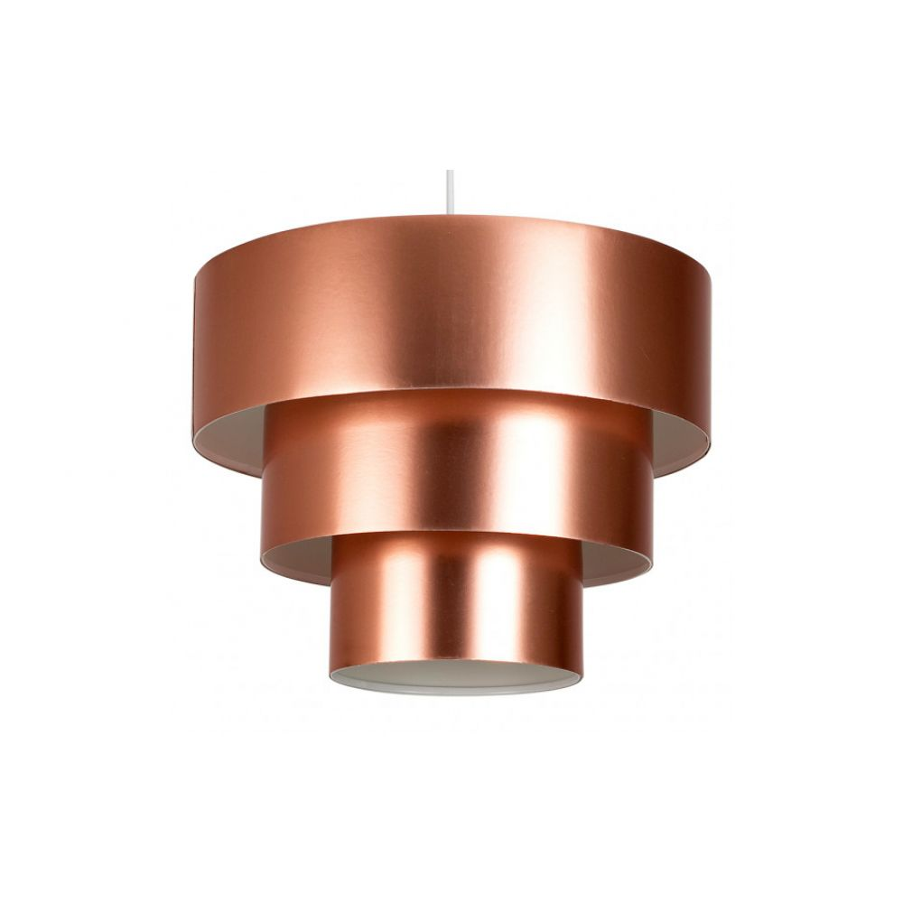Vermont 3 Tiered Decorative Champagne Copper Pendant Lamp Shade