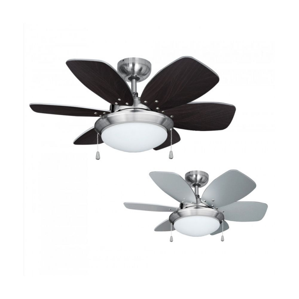 Spitfire Brushed Chrome 30 Inch Ceiling Fan With Light