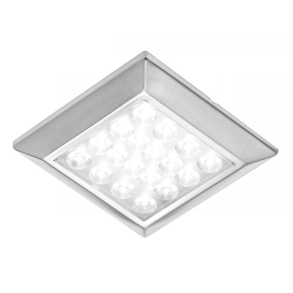 Square stainless steel 12v under cabinet led light fitting warm white square stainless steel 12v under cabinet led light fitting warm white aloadofball Images