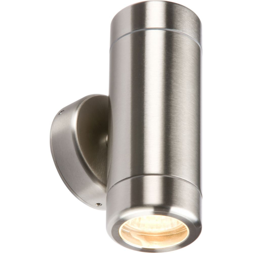 Stainless Steel Up/Down Twin Outdoor Wall Light