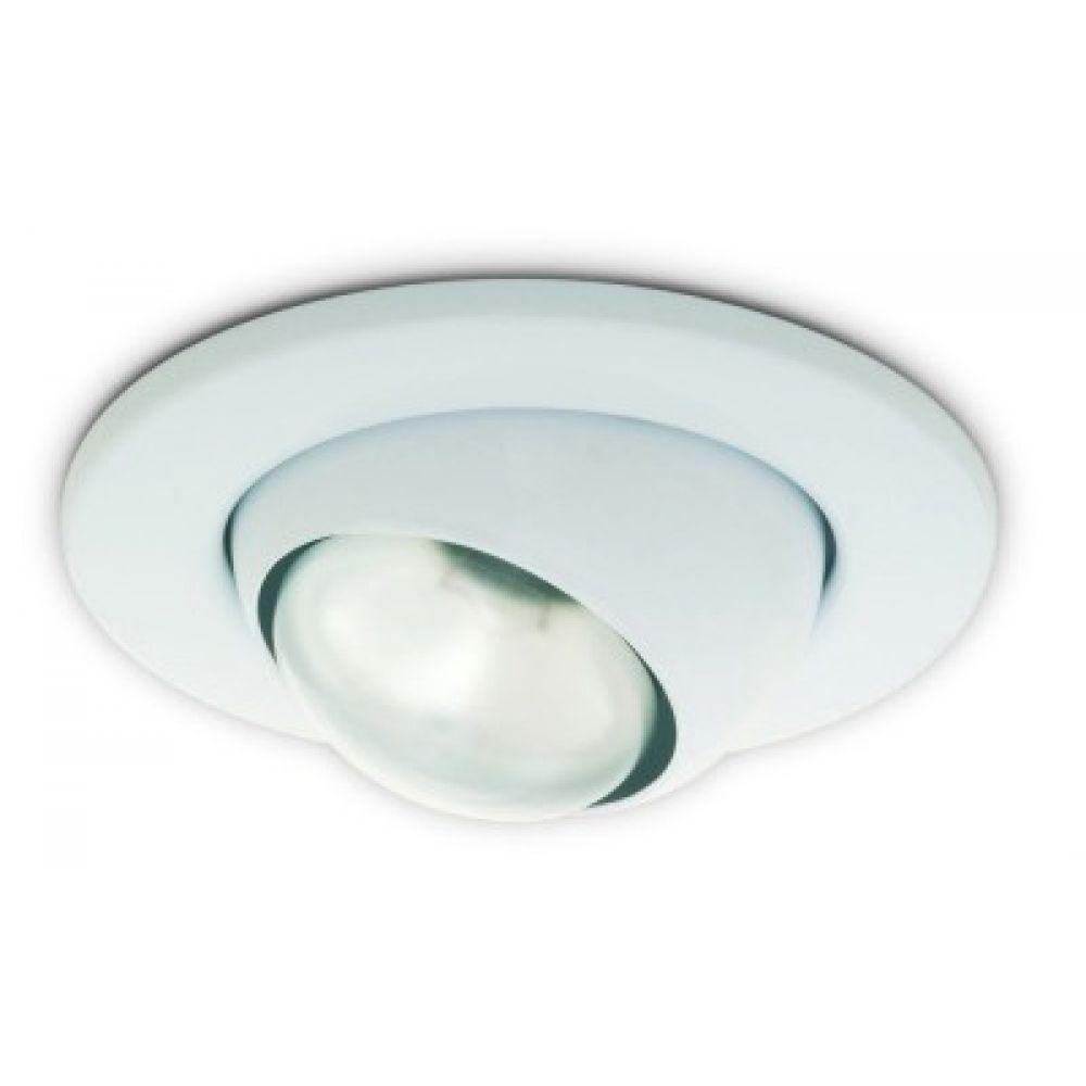 White 240 Volt R80 Es E27mm Eyeball Light Fitting