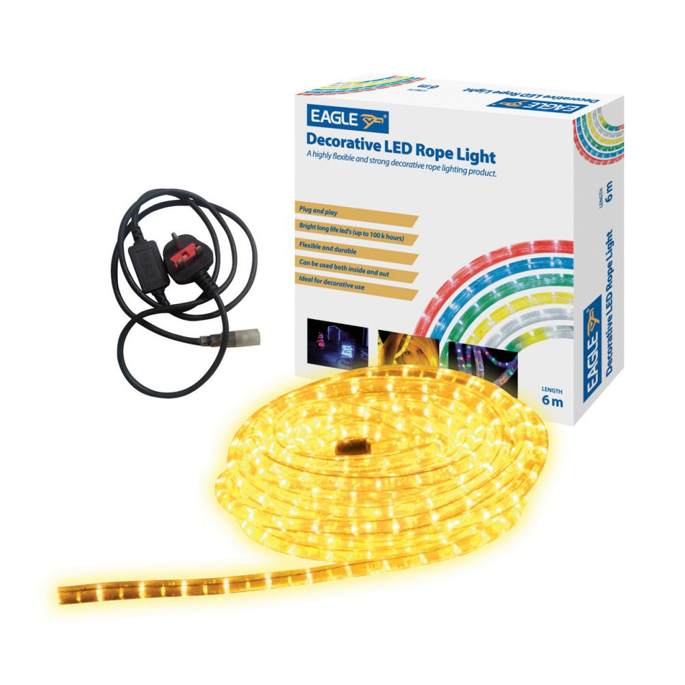 Yellow decorative 6 metre duralight led rope light mozeypictures Gallery