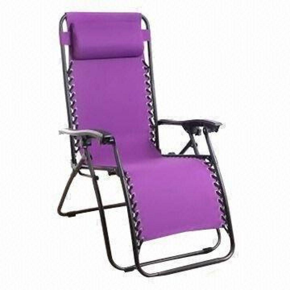 Purple Texteline Zero Gravity Chair