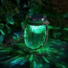 Solar Colour Changing Carnival Glass Jar Lantern