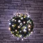 40 Cool White Battery Fairy Lights with Multi Function Timer