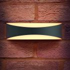 Integral ILDEA011 7 watt IP65 Rated Grey Outdoor Wave LED Wall Light