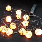 12x Mini LED Pumpkin Halloween Party Lights On A 170cm String