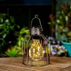 Solar Cage Lantern Stake or Table Lantern