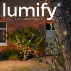 100x Multi Coloured Lumify Outdoor Solar Powered LED Fairy Lights
